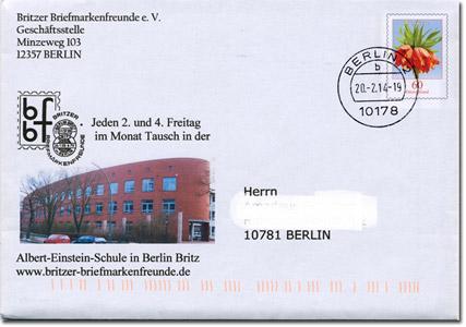 Ganzsache der Britzer Briefmarkenfreunde e.V. 2014